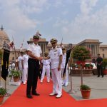 New Delhi: Chief of the Naval Staff, Admiral Sunil Lanba meets German Navy Chief Vice Admiral Andreas Krause at South Block in New Delhi, on Oct 18, 2018. (Photo: IANS) by .