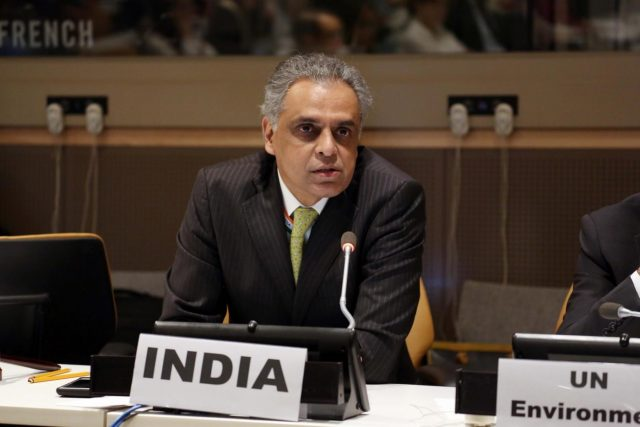 New York: United Nations (UN) Ambassador Syed Akbaruddin addresses at UN Conference on Environment, in New York on June 5, 2018. (Photo: Mohammed Jaffer/IANS) by .