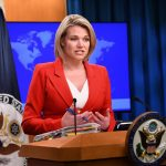 WASHINGTON, Oct. 2, 2018 (Xinhua) -- U.S. State Department spokesperson Heather Nauert addresses a press briefing in Washington D.C., the United States, on Oct. 2, 2018. Nauert said here on Tuesday that U.S. Secretary of State Mike Pompeo will travel to the Democratic People's Republic of Korea for further talks concerning the country's denuclearization. (Xinhua/Liu Jie/IANS) by .