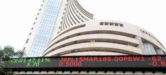 Bombay Stock Exchange. (File Photo: IANS) by .