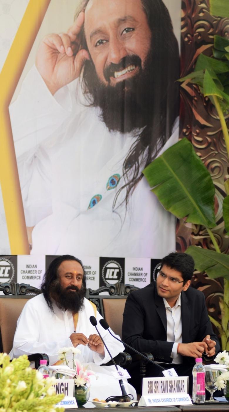 Kolkata: Art of Living (AoL) Founder Sri Sri Ravi Shankar during a programme organised by ICC in Kolkata, on Dec 15, 2017. (Photo: IANS) by .