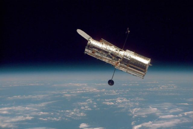 The Hubble Space Telescope. (Photo Courtesy: NASA) by .