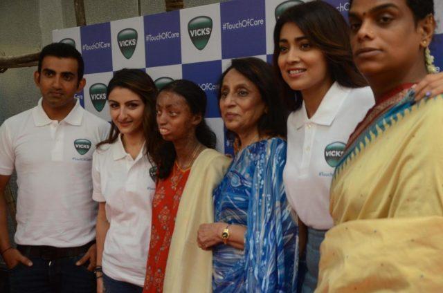 Mumbai: India cricketer Gautam Gambhir, actors Soha Ali Khan, Shriya Saran and transgender activist Gauri Sawant during a promotional programme in Mumbai on Oct 10, 2018.(Photo: IANS) by .