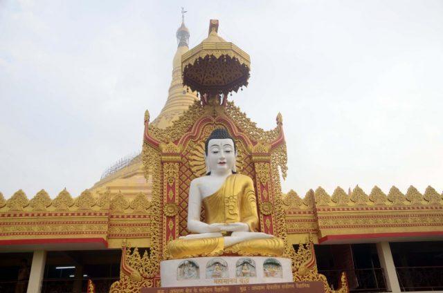 Mumbai: A view of the Buddha statue at Global Vipassana Pagoda in Mumbai on Jan 14, 2018. (Photo: IANS) by .