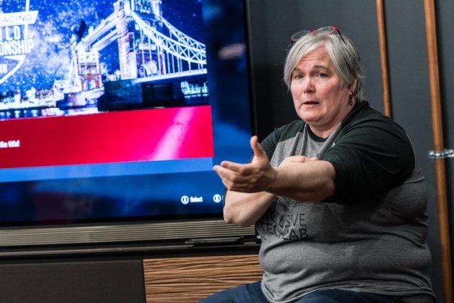 Evelyn Thomas, Senior Programme Manager, Xbox, Microsoft, during an presentation. (Photos: Courtesy, Microsoft) by .