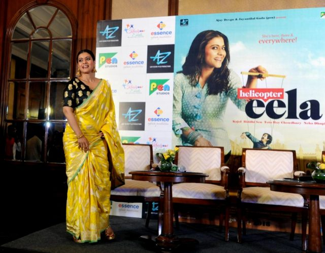 Kolkata: Actress Kajol during a press conference to promote her upcoming film