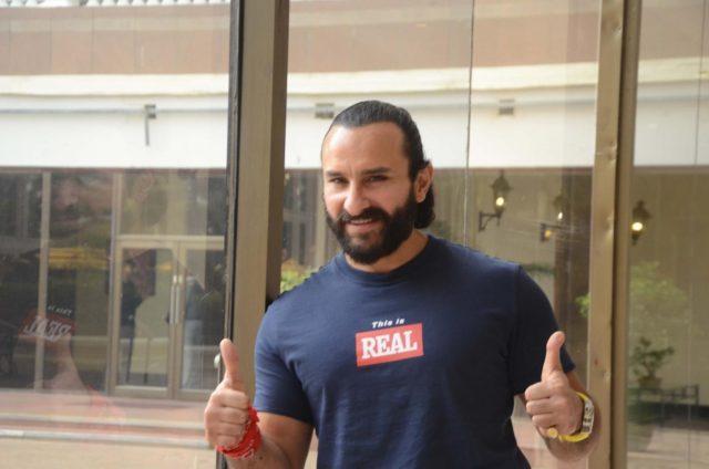 Mumbai: Actor Saif Ali Khan seen at a Mumbai hotel, on Oct 13, 2018. (Photo: IANS) by .