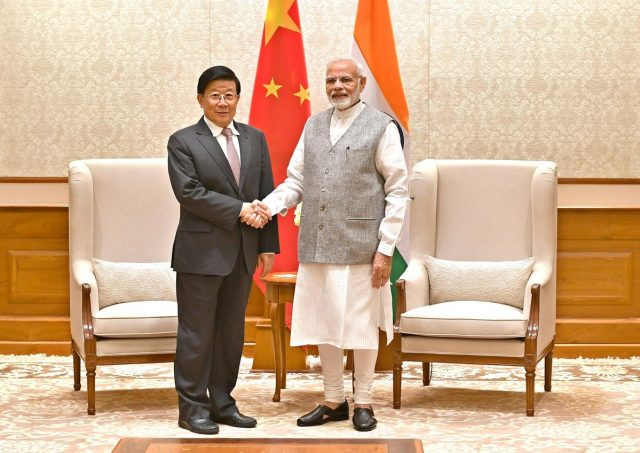 New Delhi: China's Public Security Minister Zhao Kezhi calls on Prime Minister Narendra Modi in New Delhi, on Oct 23, 2018. (Photo: IANS/PIB) by .