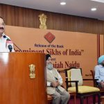 New Delhi: Vice President M. Venkaiah Naidu addresses at the launch of Prabhleen Singh's book 'Prominent Sikhs of India', in New Delhi on Oct 29, 2018. (Photo: IANS/PIB) by .