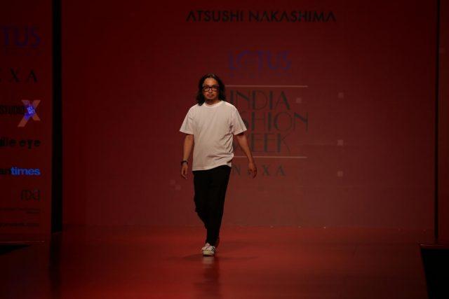 New Delhi: Designer Atsushi Nakashima during Lotus Make-Up India Fashion Week Spring Summer 2019 in New Delhi on Oct 12, 2018.(Photo: Amlan Paliwal/IANS) by .