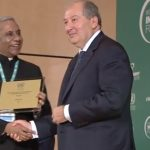 Deepak Bagla, the CEO of Invest India, receives the top United Nations Investment Promotion Award from Armenian President Armen Sarkissian at the World Investment Forum in Geneva on Monday, Oct. 22, 2018. (Photo: UN/IANS) by .