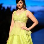 New Delhi: Actress Prachi Desai showcase creations of designer Architha Naranyam during Lotus Make-Up India Fashion Week Spring Summer 2019 in New Delhi on Oct 12, 2018.(Photo: Amlan Paliwal/IANS) by .