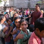 Babar Ali (in red kurta) with students from his school in Murshidabad, West Bengal, where he educates ragpickers and poor children. by .