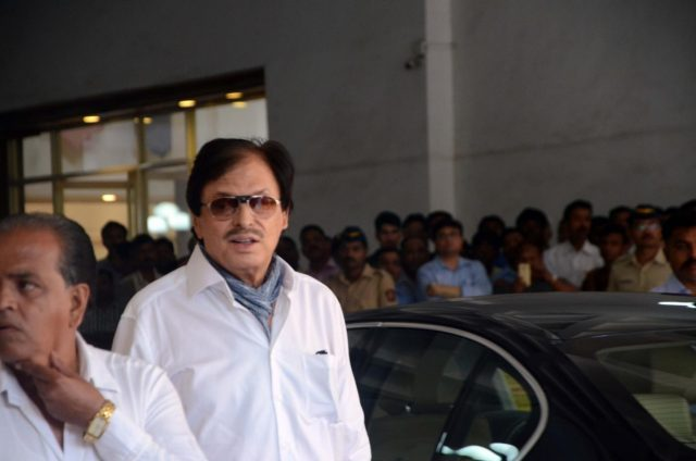 Mumbai: Actor Sanjay Khan arrives to attend the prayer meet of his father and late actor Vinod Khanna at Nehru Centre in Mumbai, on May 3, 2017. (Photo: IANS) by .