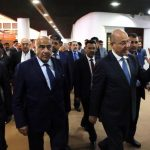 BAGHDAD, Oct. 2, 2018 (Xinhua) -- The newly-elected Iraqi President Barham Salih (1st R, Front) and prime minister-designate Adel Abdul-Mahdi (2nd R, Front) leave the parliament building in Baghdad, Iraq, on Oct. 2, 2018. The newly-elected Iraqi President Barham Salih on Tuesday named the Shiite independent politician Adel Abdul-Mahdi as prime minister-designate and tasked him with forming the next government, Iraq official television reported. (Xinhua/IANS) by .