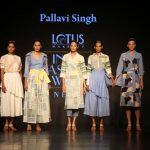 New Delhi: Models showcase creations of designer Pallavi Singh during Lotus Make-Up India Fashion Week Spring Summer 2019 in New Delhi on Oct 11, 2018.(Photo: Amlan Paliwal/IANS) by .