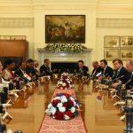 New Delhi: Prime Minister Narendra Modi and Russian President Vladimir Putin during India-Russia delegation level talks, in New Delhi, on Oct 5, 2018. (Photo: IANS/MEA) by .