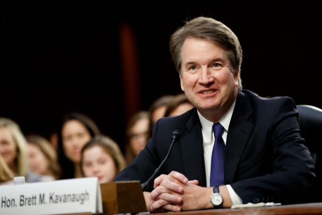 WASHINGTON, Sept. 5, 2018 (Xinhua) -- U.S. Supreme Court nominee Judge Brett Kavanaugh speaks during his Senate confirmation hearing on Capitol Hill in Washington D.C., the United States, Sept. 4, 2018. The Senate confirmation hearing for Kavanaugh began Tuesday, which has descended into chaos as Democrats protested about Republicans blocking access to documents concerning the judge. (Xinhua/Ting Shen/IANS) by .