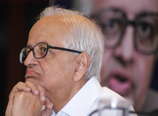 Former Reserve Bank of India Governor Bimal Jalan during a programme on ' State of India n Economy-Politics and Governance' in Kolkata on April 14, 2014. (Photo: IANS) by .