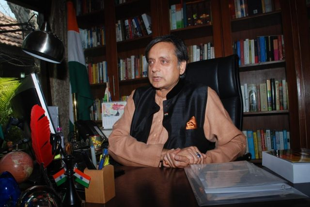 Congress MP and bestselling author Shashi Tharoor. by .