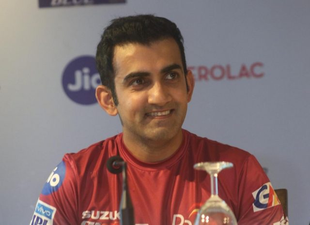 New Delhi: Delhi Daredevils captain Gautam Gambhir during a press conference at the launch of the team's anthem ahead of IPL 2018, in New Delhi on April 5, 2018. (Photo: IANS) by .