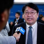 """INCHEON, Oct. 8, 2018 (Xinhua) -- Zhai Panmao, co-chair of Intergovernmental Panel on Climate Change (IPCC) Working Group, receives interview after a press conference of the 48th session of IPCC in South Korea's western port city of Incheon, Oct. 8, 2018. The IPCC, an international body assessing the science related to climate change, on Monday urged """"rapid and far-reaching"""" changes in all aspects of the entire world to fight against global warming after adopting a special report on global warming. (Xinhua/Wang Jingqiang/IANS) by ."""