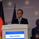 ANKARA, Sept. 5, 2018 (Xinhua) -- German Foreign Minister Heiko Maas speaks at a joint press conference with his Turkish counterpart Mevlut Cavusoglu (not seen in picture) in Ankara, Turkey, on Sept. 5, 2018. Turkey and Germany will work intensely to strengthen bilateral ties and prevent the escalation of conflicts in Syria's Idlib region, foreign ministers of the two countries stressed Wednesday in Ankara. (Xinhua/Mustafa Kaya/IANS) by .