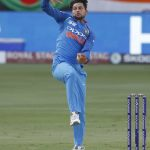 Dubai: India's Kuldeep Yadav in action during the Asia Cup 2018 final match between India and Bangladesh at Dubai International Cricket Stadium in Dubai, UAE on Sept 28, 2018. (Photo: Surjeet Yadav/IANS) by .