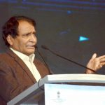 New Delhi: Union Minister for Commerce & Industry and Civil Aviation Suresh Prabhu addresses at the India Mobile Congress - 2018, in New Delhi on Oct 25, 2018. (Photo: IANS/PIB) by .
