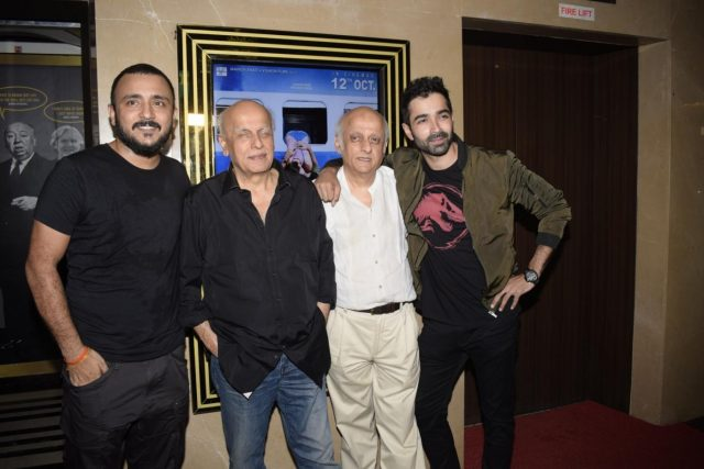 Mumbai: Producers Mahesh Bhatt, Mukesh Bhatt and actor Varun Mitra at the special screening of film
