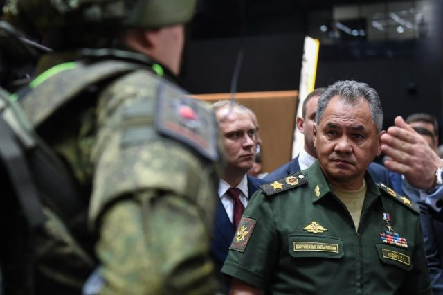 MOSCOW, Aug. 21, 2018 (Xinhua) -- Russian Defense Minister Sergei Shoigu visits the Army-2018 International Military Technical Forum held in Moscow region, Russia, on Aug. 21, 2018. (Xinhua/Evgeny Sinitsyn/IANS) by .