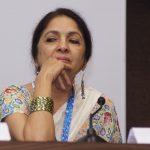 "Panaji : Actress Neena Gupta of the film ""Jane Bhi Do Yaaro"" pay homage to the legendary Director of the film Kundan Shah at a press conference during 48th International Film Festival of India (IFFI-2017), in Panaji, Goa on November 23, 2017. (Photo: IANS) by ."