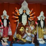 Kolkata: An idol of Goddess Durga at a Barasat pandal, in Kolkata on Oct 14, 2018. (Photo: IANS) by .