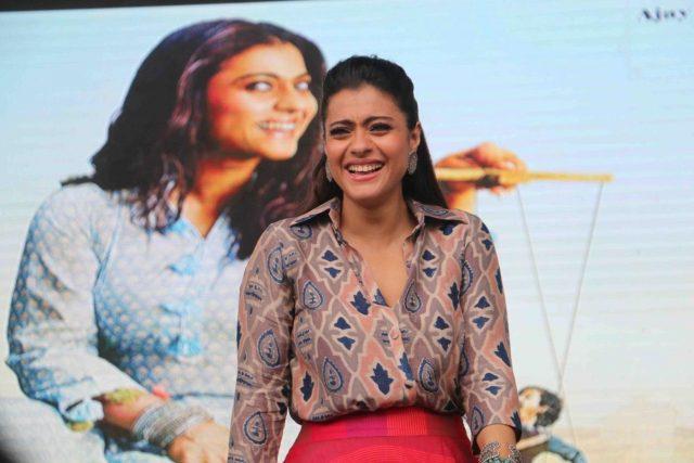 Mumbai: Actress Kajol Devgn during the promotion of her upcoming film