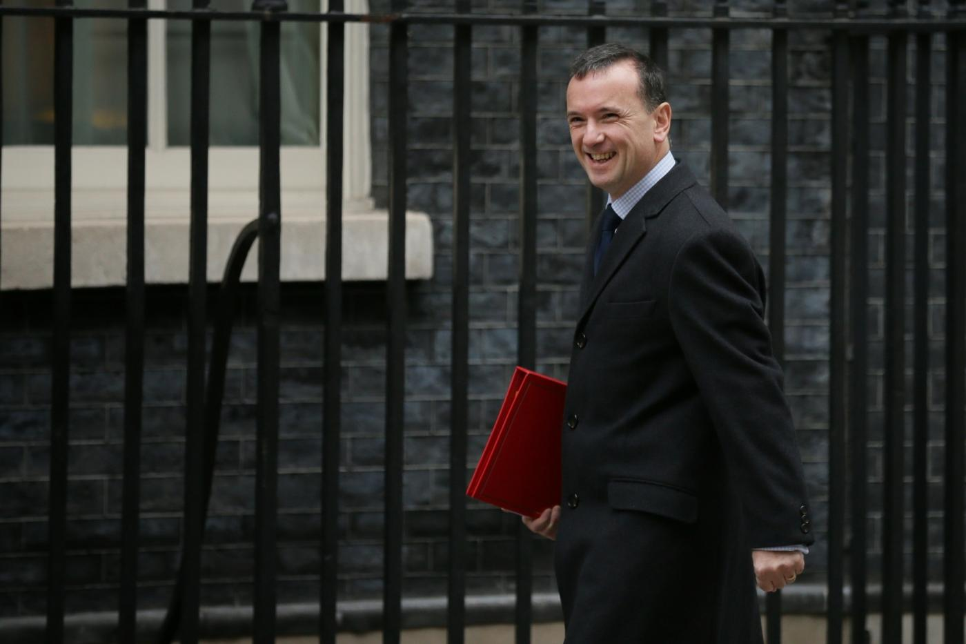 LONDON, Nov. 26, 2018 (Xinhua) -- British Secretary of State for Wales Alun Cairns arrives for a cabinet meeting at 10 Downing Street in London, Britain, on Nov. 26, 2018. The British parliament's vote on Brexit deal is expected to be held on Dec. 11, British Prime Minister Theresa May confirmed on Monday. (Xinhua/Tim Ireland/IANS) by .