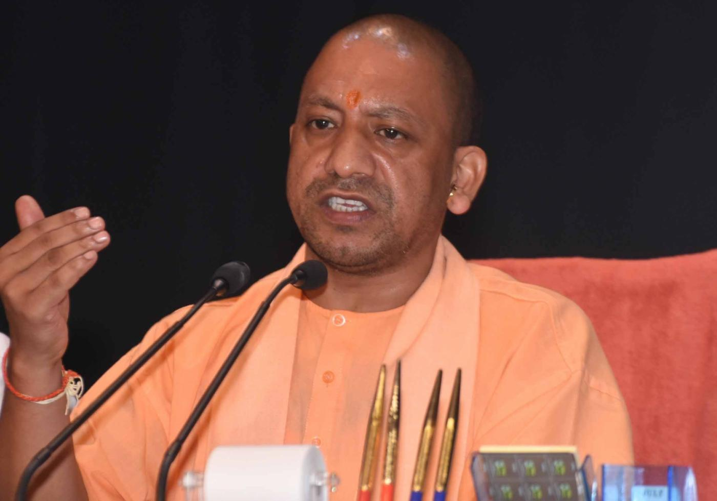 Lucknow: Uttar Pradesh Chief Minister Yogi Adityanath addresses during a cabinet briefing, in Lucknow on Sept 25, 2018. (Photo: IANS) by .