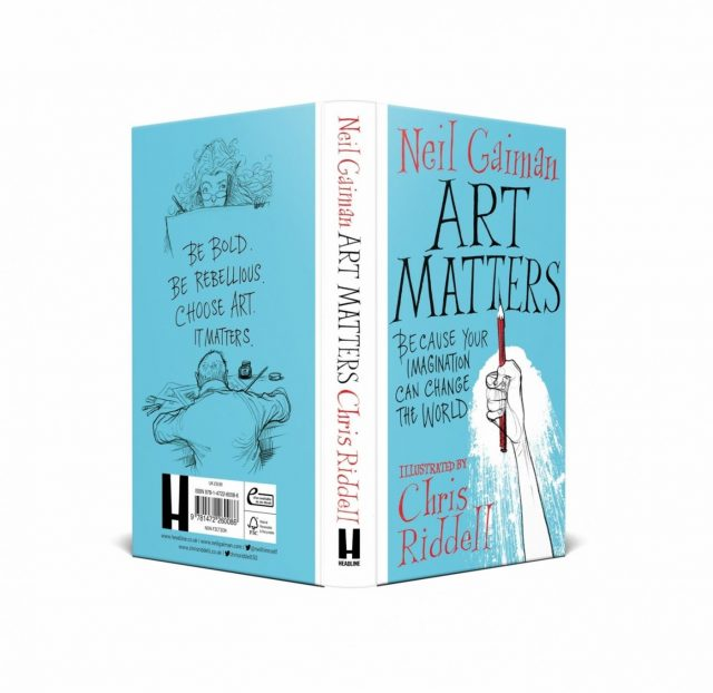 The book cover of Art Matters by Neil Gaiman. by .