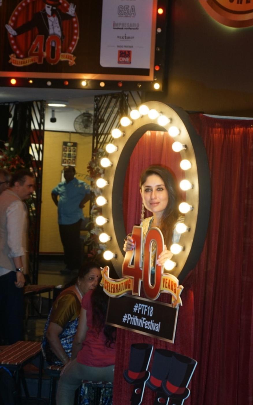 Mumbai: Actress Kareena Kapoor Khan at the 40th anniversary celebration of the Prithvi Theatre in Mumbai on Nov 5, 2018. (Photo: IANS) by .