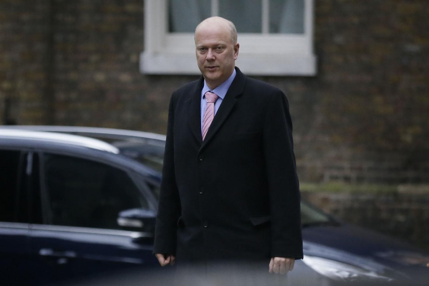 LONDON, Jan. 10, 2018 (Xinhua) -- Chris Grayling, Britain's transport secretary, arrives for the first cabinet meeting of the year, following yesterday's cabinet reshuffle, at 10 Downing Street, in London, Britain, on Jan. 9, 2018. (Xinhua/Tim Ireland/IANS) by .