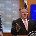WASHINGTON, Oct. 24, 2018 (Xinhua) -- U.S. Secretary of State Mike Pompeo speaks during a press briefing in Washington D.C., the United States, Oct. 23, 2018. The United States is revoking visas of Saudi officials suspected of involvement in the death of Saudi journalist Jamal Khashoggi, said U.S. Secretary of State Mike Pompeo on Tuesday. (Xinhua/Liu Jie/IANS) by .
