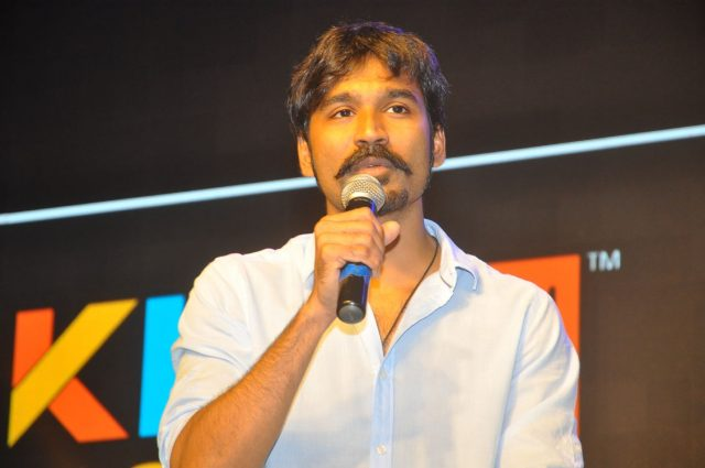 Hyderabad: Actor Dhanush during the interview for his upcoming film