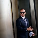 WASHINGTON, Sept. 7, 2018 (Xinhua) -- Former Trump campaign aide George Papadopoulos leaves the court in Washington D.C., the United States, on Sept. 7, 2018. George Papadopoulos was sentenced Friday to 14 days in prison for lying to federal investigators during the Russia probe. (Xinhua/Ting Shen/IANS) by .