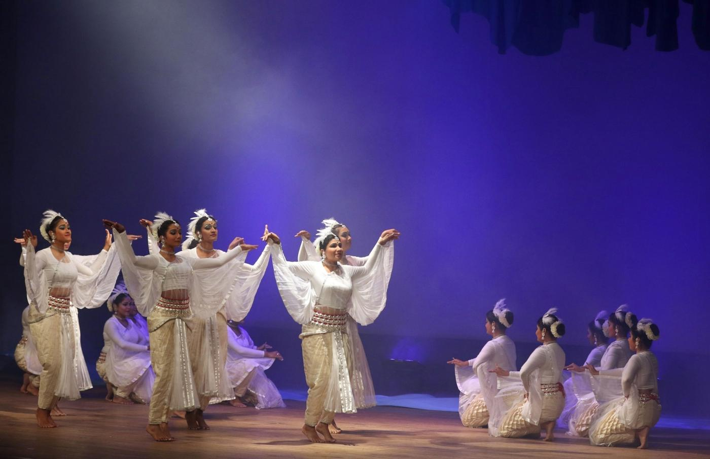 Bengaluru: Artistes perform Hansika, an adaptation of a ballet called Swan Lake, at Chiwdaiah Memorial Hall in Bengaluru on March 31, 2018. (Photo: IANS) by .