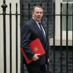 LONDON, Nov. 26, 2018 (Xinhua) -- British International Trade Secretary Liam Fox arrives for a cabinet meeting at 10 Downing Street in London, Britain, on Nov. 26, 2018. The British parliament's vote on Brexit deal is expected to be held on Dec. 11, British Prime Minister Theresa May confirmed on Monday. (Xinhua/Tim Ireland/IANS) by .