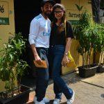 Mumbai: Actor Ayushmann Khurrana along with his wife Tahira Kashyap seen at Mumbai's Bandra on Oct 15, 2018.(Photo: IANS) by .