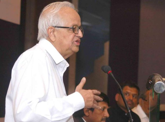 Former Reserve Bank of India Governor Bimal Jalan addresses during a programme on 'State of Indian Economy-Politics and Governance' in Kolkata on April 14, 2014. (Photo: IANS) by .