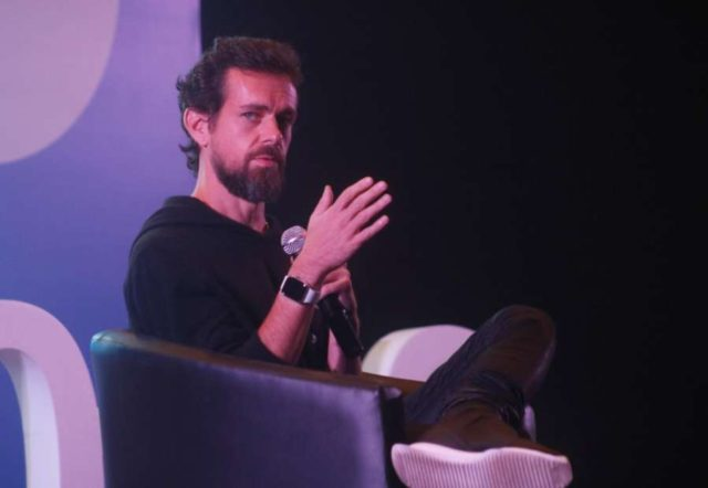 New Delhi: Twitter Co-founder and CEO Jack Dorsey addresses the students of IIT Delhi at the launch of a