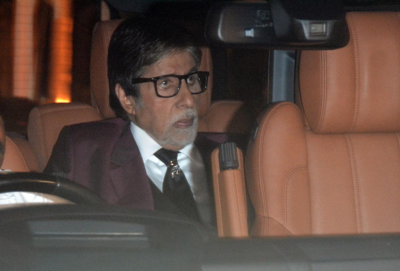 Mumbai: Actor Amitabh Bachchan at her granddaughter Aaradhya Bachchan's birthday party in Mumbai, on Nov 17, 2018. (Photo: IANS) by .