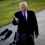 WASHINGTON, Nov. 20, 2018 (Xinhua) -- U.S. President Donald Trump speaks to reporters before departing from the White House in Washington D.C., the United States, on Nov. 20, 2018. Donald Trump has submitted written answers to questions from Special Counsel Robert Mueller probing into the alleged Russian meddling in the 2016 U.S. elections, local media on Tuesday quoted the president's attorneys as saying. (Xinhua/Ting Shen/IANS) by .