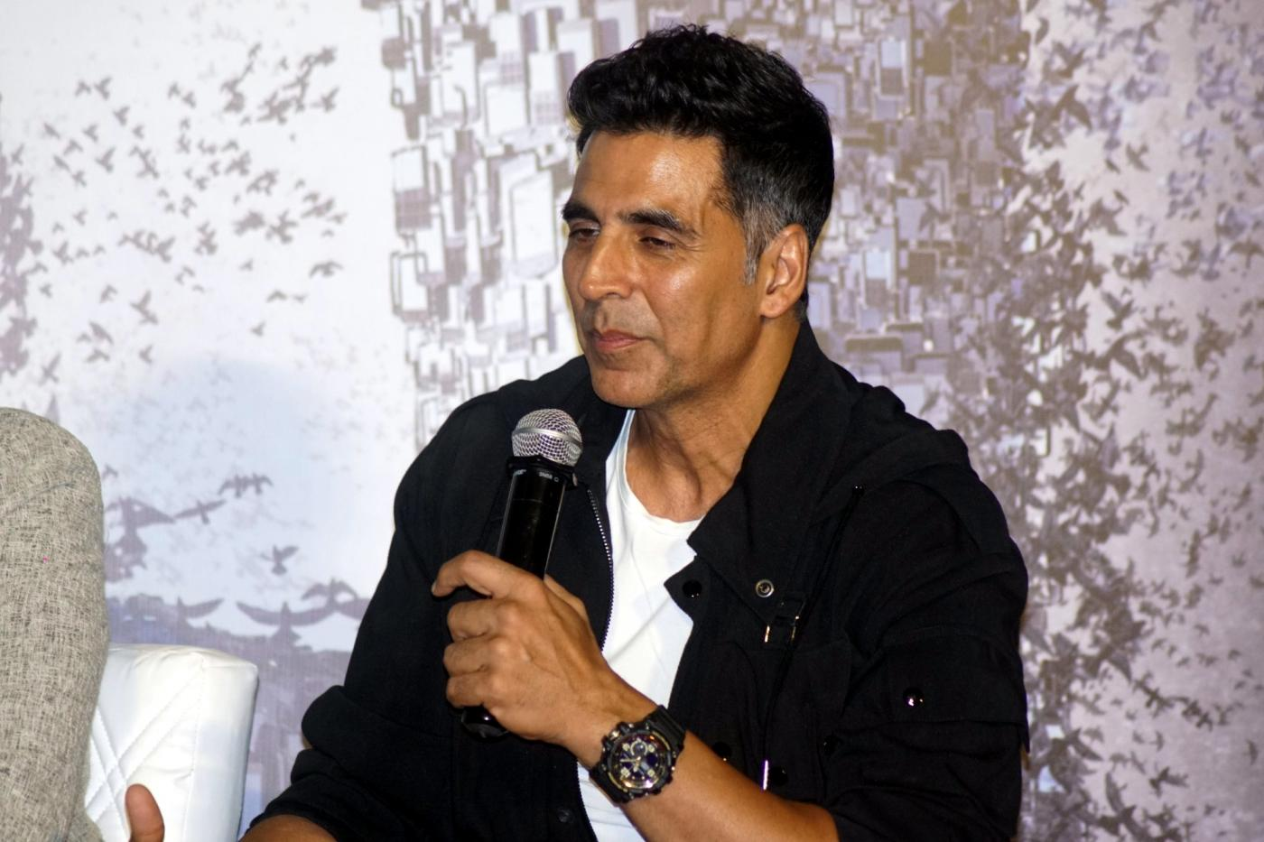 """Mumbai: Actor Akshay Kumar during a press conference to promote his upcoming film """"2.0"""" in Mumbai on Nov 24, 2018. (Photo: IANS) by ."""